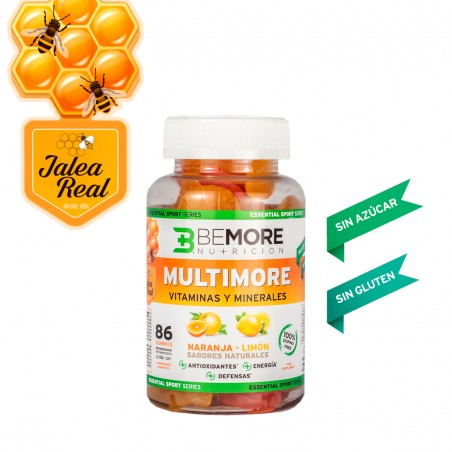 MULTIVITAMINIC ORANGE - LEMON WITH ROYAL JELLY. SUGARFREE. WITHOUT GLUTEN. WITH VITAMIN D. 86 GUMMIES